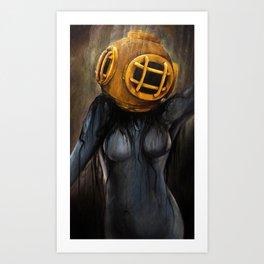 Ghost Diver Art Print