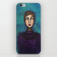 introvert iPhone & iPod Skins featuring Introvert by Leanne Schuetz Mixed Media Artist