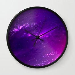 Violet nebula Wall Clock