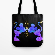 colorful mickey and minnie Tote Bag