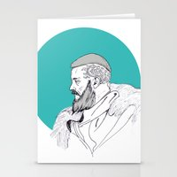 vikings Stationery Cards featuring Ragnar Lothbrok / Vikings by Lucia Prieto Moreno