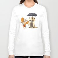 aang Long Sleeve T-shirts featuring Cross over Ghibli Appa  by Minette Wasserman