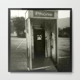 Phone booth no phone Metal Print