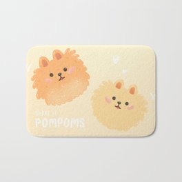 Pomeranian pom poms Bath Mat