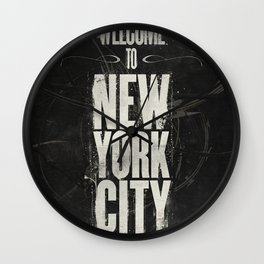 Welcome to New York City Wall Clock