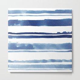 Watercolor Stripe Metal Print