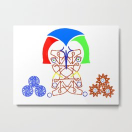 Inclined Metal Print