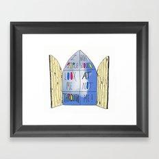 Life of a Window Framed Art Print