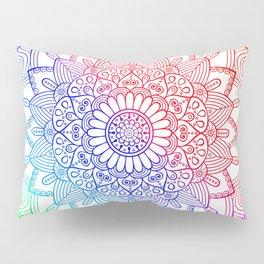 Rainbow Mandala Doodle Pillow Sham