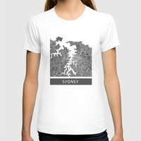 sydney T-shirts featuring Sydney map by Map Map Maps