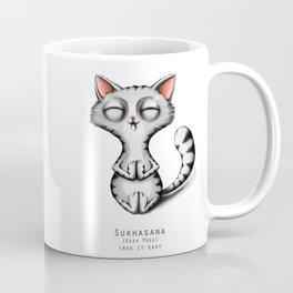 yoga cat sukhasana Coffee Mug