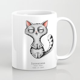 yoga cat sukhasana Coffee Mug