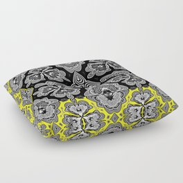 Afro Caribbean Inspired Neo Tribal Boho Print Floor Pillow