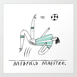 Midfield Maestro Art Print