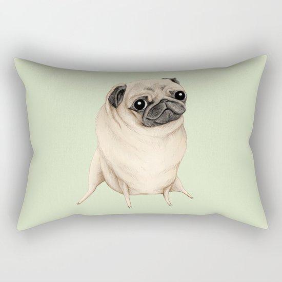 Sweet Fawn Pug Rectangular Pillow