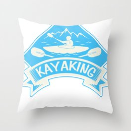 Kayak Canoe Canoe Gift Canoes kayaker Throw Pillow