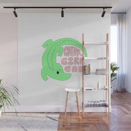 Gator Girl Gab Wall Mural