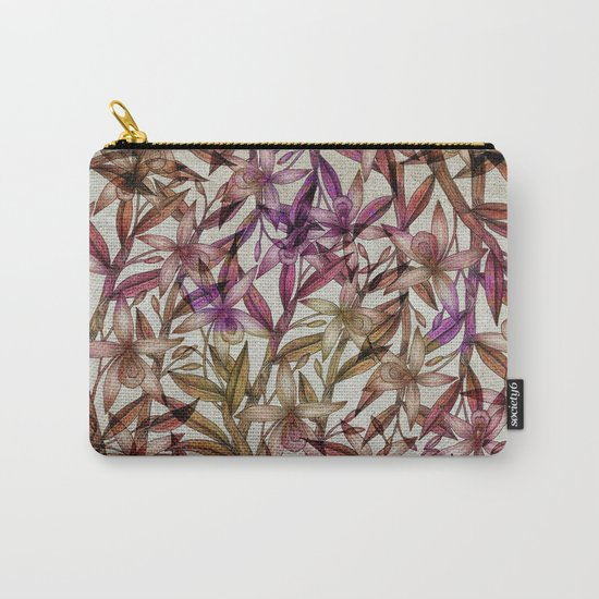 Orchid pattern Carry-All Pouch