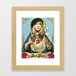 Saint Stevie Nicks Framed Art Print