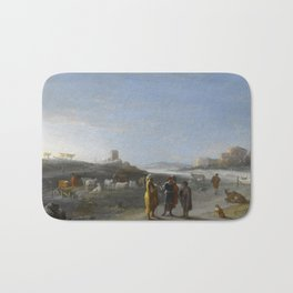 An Italianate Landscape with an unidentified subject from the Old Testament, Cornelis van Poelenburc Bath Mat