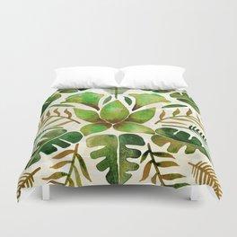 Tropical Symmetry – Olive Green Duvet Cover