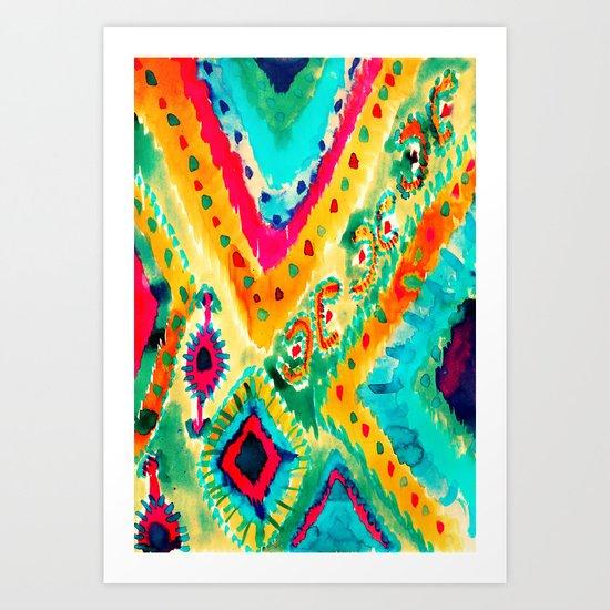 Ikat V Art Print