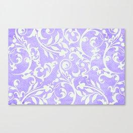 Shabby Chic purple damask Canvas Print