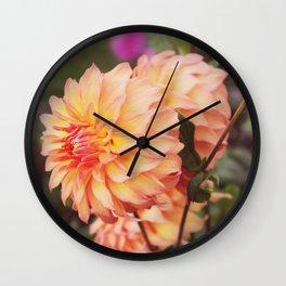Peach Parfait Wall Clock
