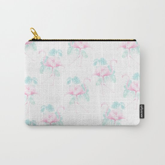 Tropical Flamingos Carry-All Pouch