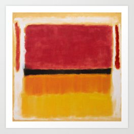 1949 Untitled (Violet, Black, Orange, Yellow on White and Red) by Mark Rothko Art Print
