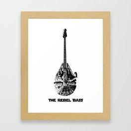 Rebel Bass Framed Art Print