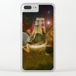 Star Ship Clear iPhone Case