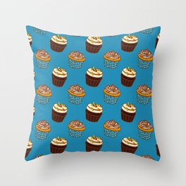 Pattern-cupcakes,-sweets,-food,-dessert,-dragee Throw Pillow