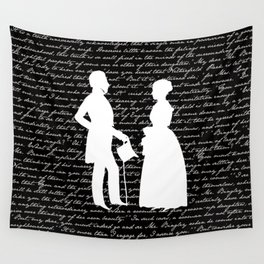 Pride and Prejudice design Wall Tapestry