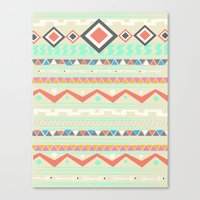 native Canvas Prints featuring Native by Nika