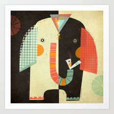 ELEPHANT FRONT Art Print