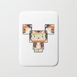Cute Cartoon Blockimals Tiger Bath Mat