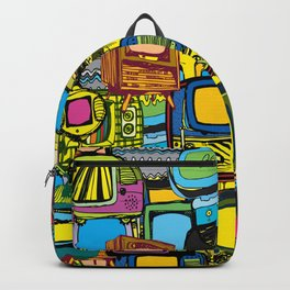 Televisions of various ages Backpack