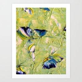 Butterfly on a blade of grass Art Print
