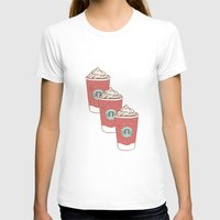 starbucks T-shirts featuring Christmas Design Starbucks  by swiftstore