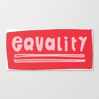 equality Canvas Prints featuring Equality by MaJoBV
