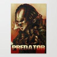 predator Canvas Prints featuring Predator by ChrisNygaard