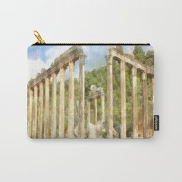 Euromos Ruins Watercolor Carry-All Pouch