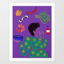 GUMBO GODDESS Art Print