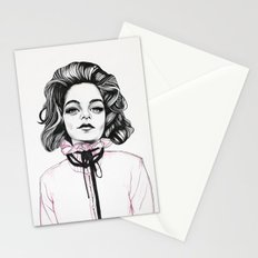 Girls in Pink Garments b Stationery Cards