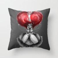"calendars Throw Pillows featuring Crimson Lolita by Barbora ""Mad Alice"" Urbankova"