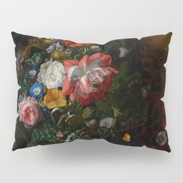 """Rachel Ruysch """"Roses, Convolvulus, Poppies, and Other Flowers in an Urn on a Stone Ledge"""" Pillow Sham"""