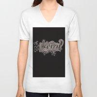 weird V-neck T-shirts featuring Weird by Rocky Quarry