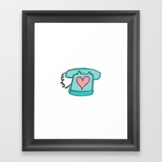 Long Distance Love Framed Art Print