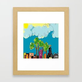 JL The City View Framed Art Print